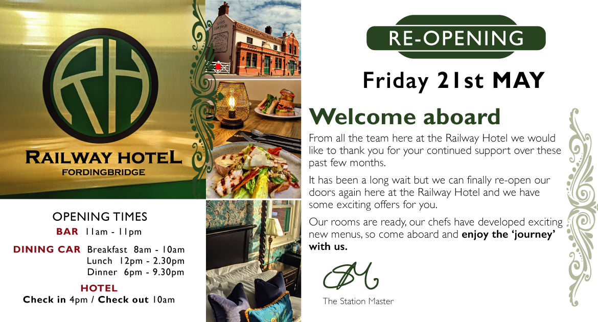 Re-Opening Friday 21st May